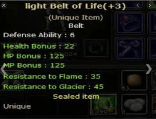 +3 lbol Light belt of light