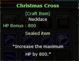 800 hp cristmass cross